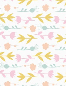 Spring pale pastel patterned papers 04
