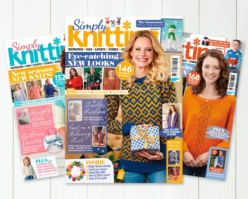 Subscribe to Simply Knitting magazine