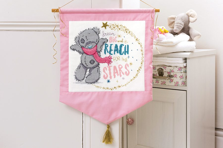 WELCOME A NEW BABY WITH ADORABLE BABY TEDDY BEARS SAMPLER CROSS STITCH CHART
