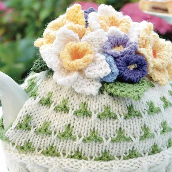 Val Pierce Spring tea cosy knitting pattern