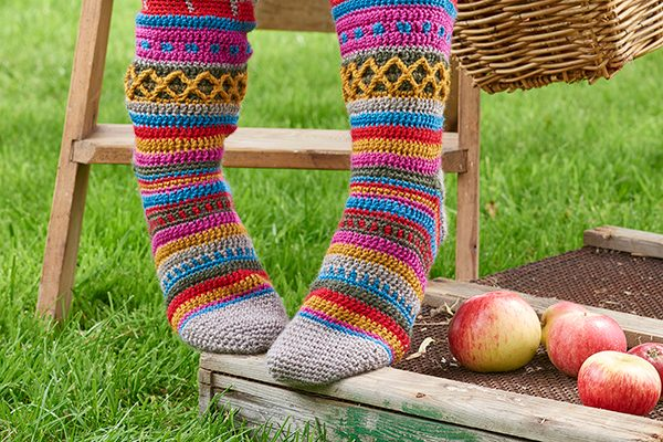 Colourwork Socks Crochet Pattern