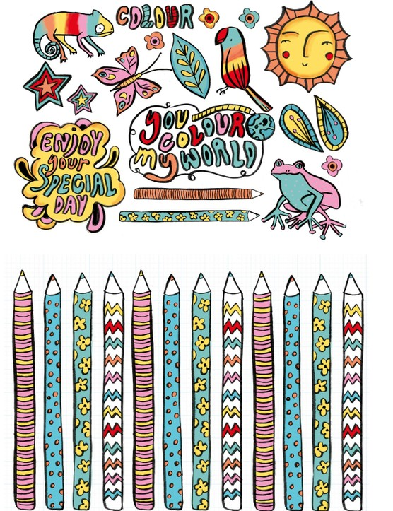 Bright and colourful crafting patterned papers 3