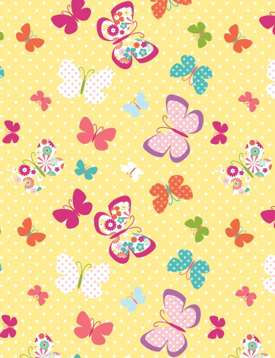Free Butterflies and Blooms patterned papers 01