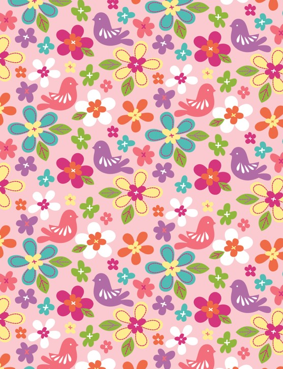 Free Butterflies and Blooms patterned papers 02