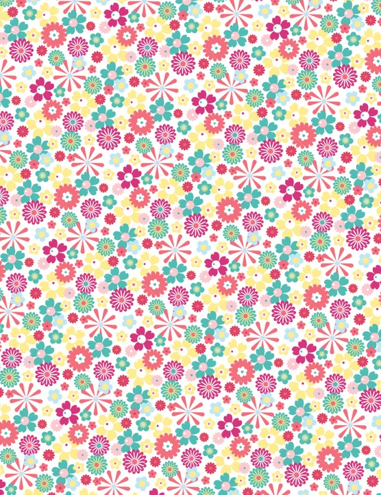 Free Butterflies and Blooms patterned papers 03