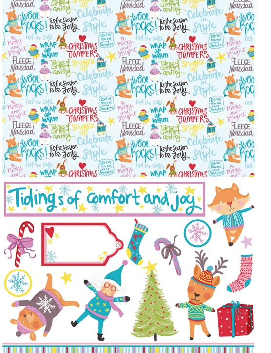 Free Christmas jumper patterned papers 3