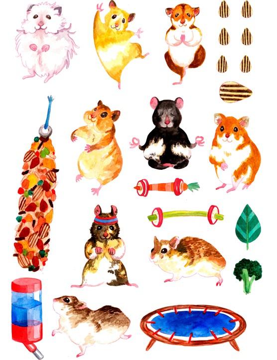 Free motivational hamster printables 1