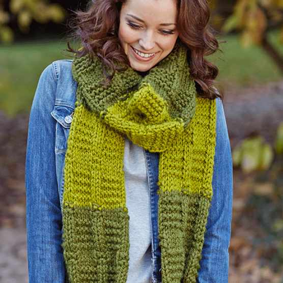 Heart scarf knitting pattern
