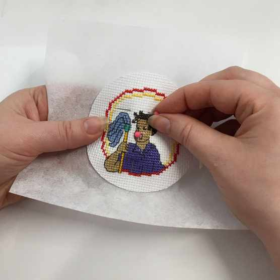 How to make a sew-on patch step 4