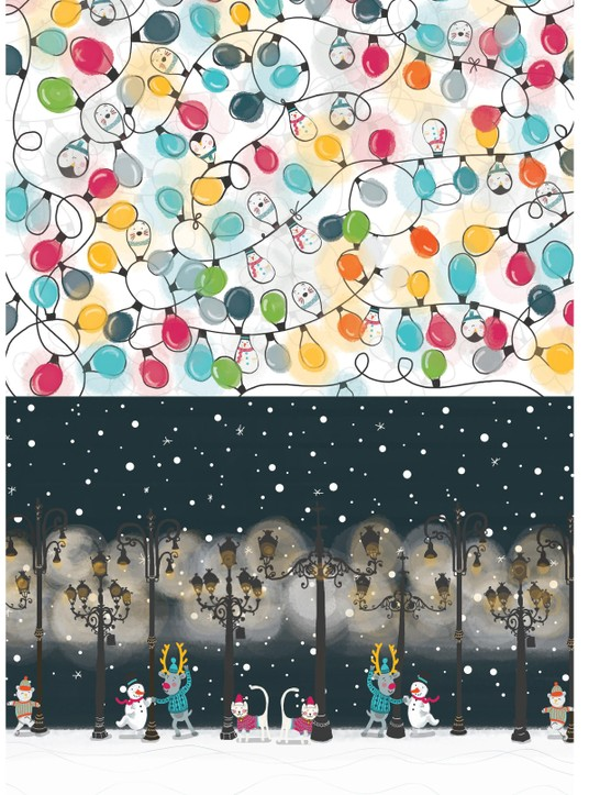 Merry musical Christmas patterned papers 2