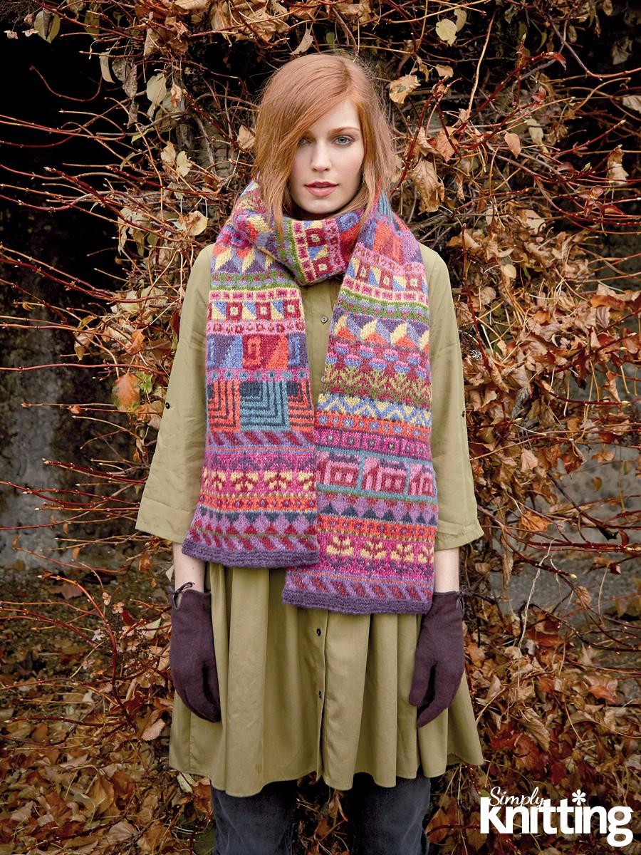 Simply Knitting 194 Fair Isle Scarf