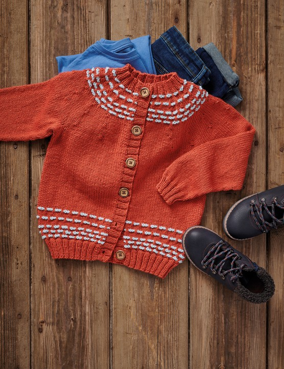 The Knitter 145 Aderyn childs cardigan
