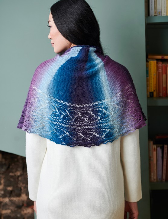 The Knitter 145 Heloise shawl
