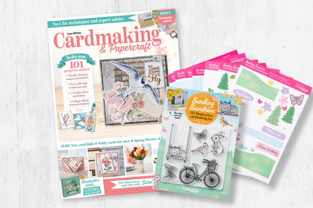 card making magazines with free gifts