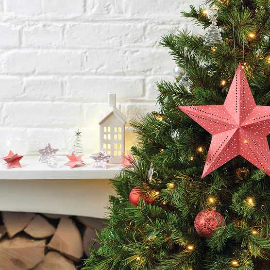 How to make a Christmas star out of paper