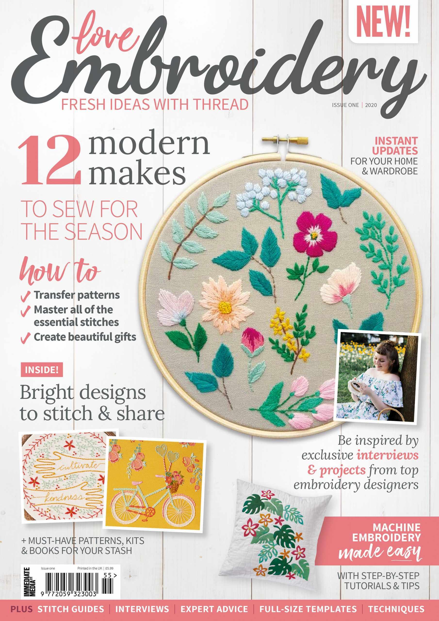 Love Embroidery Magazine Cover