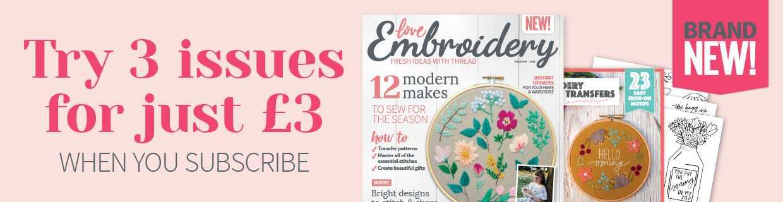 Love Embroidery Magazine Susbcription