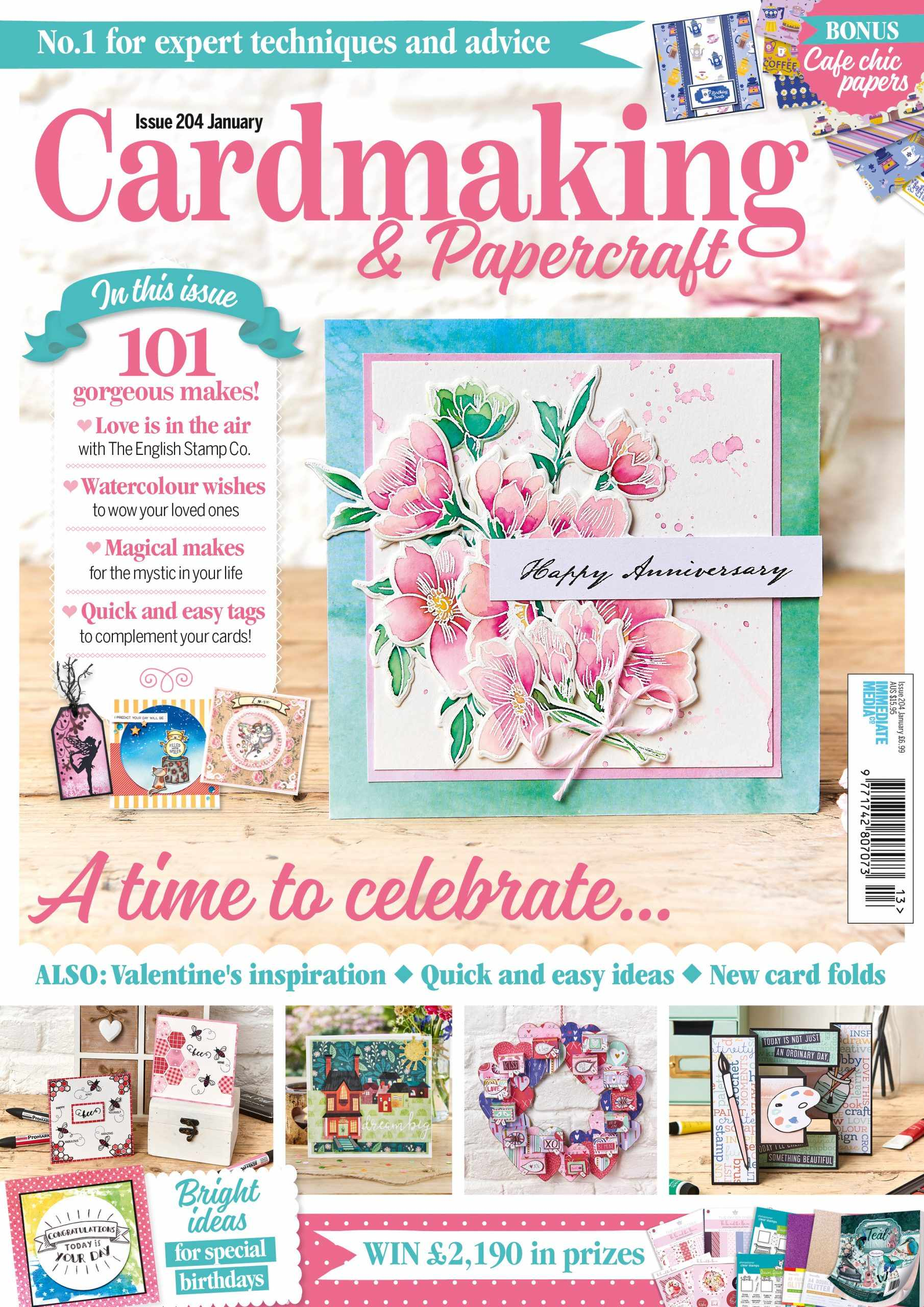 Cardmaking & Papercraft issue 204 cover
