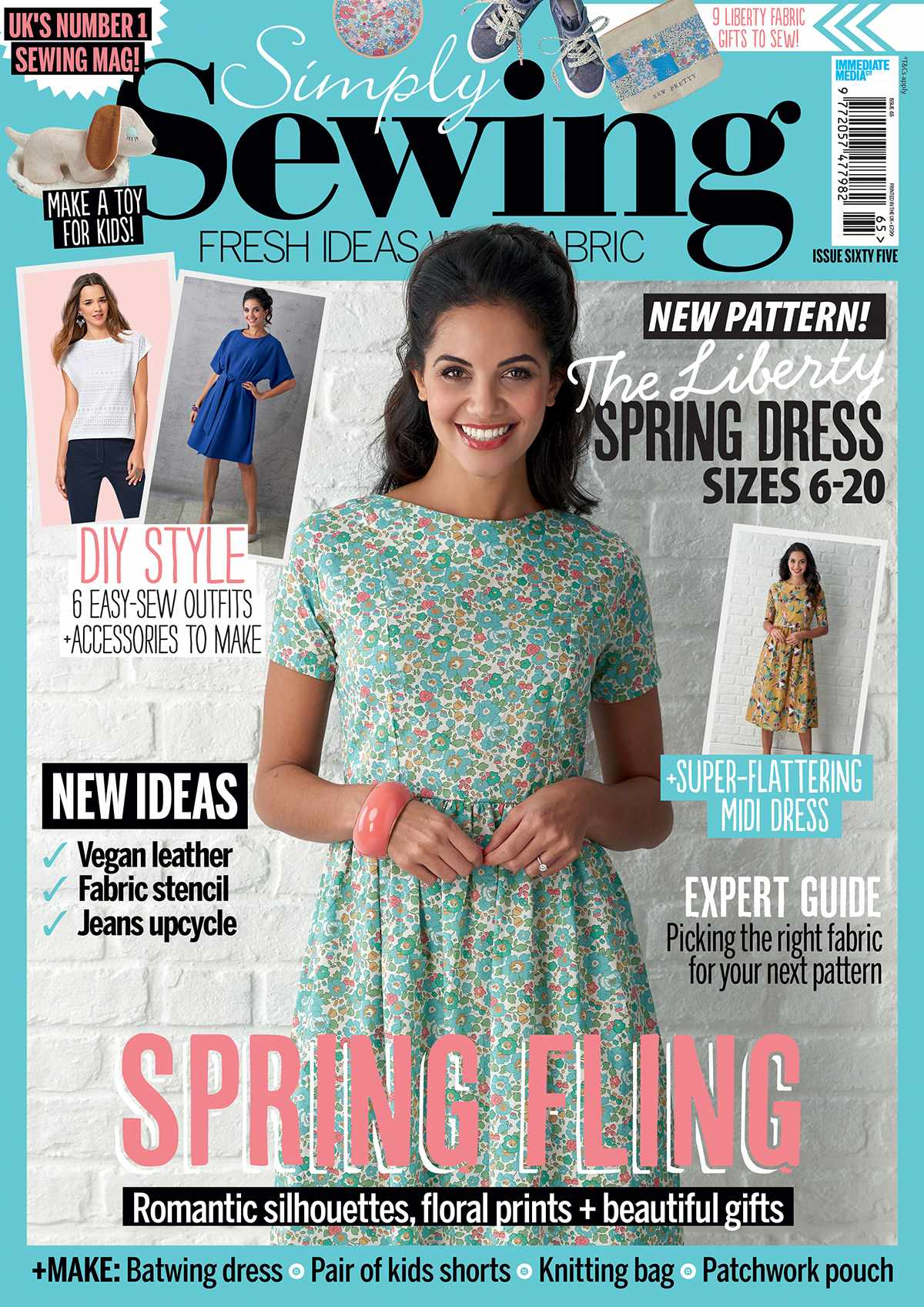 Simply Sewing magazine issue 65 cover