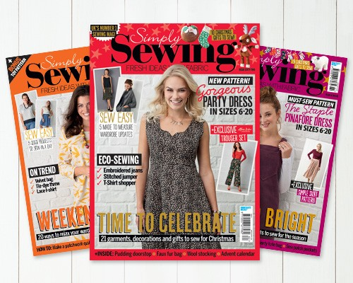 Subscribe to Simply Sewing magazine