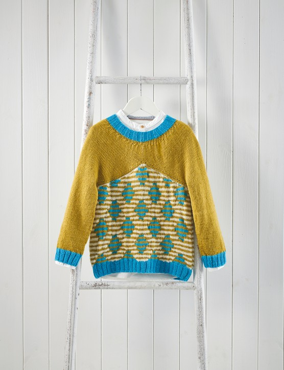 The Knitter 146 Break Away child's jumper