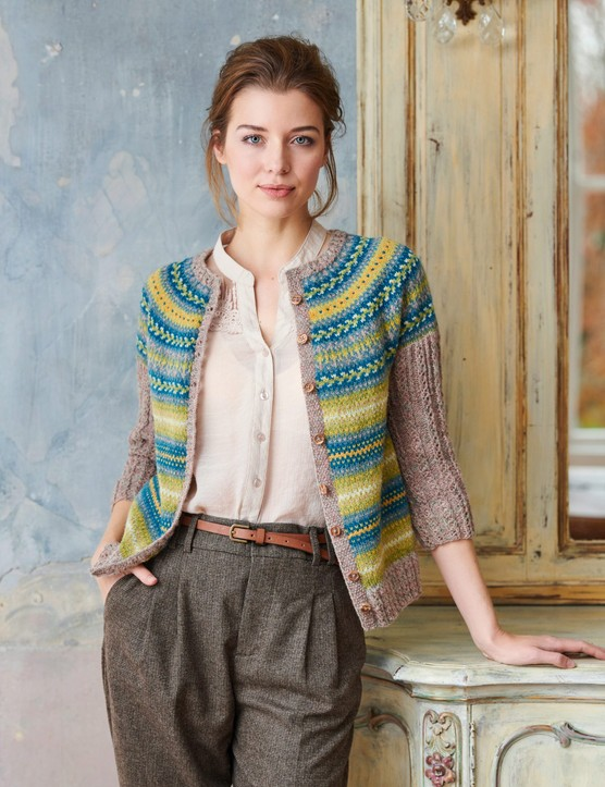 The Knitter 146 Green Lane cardigan