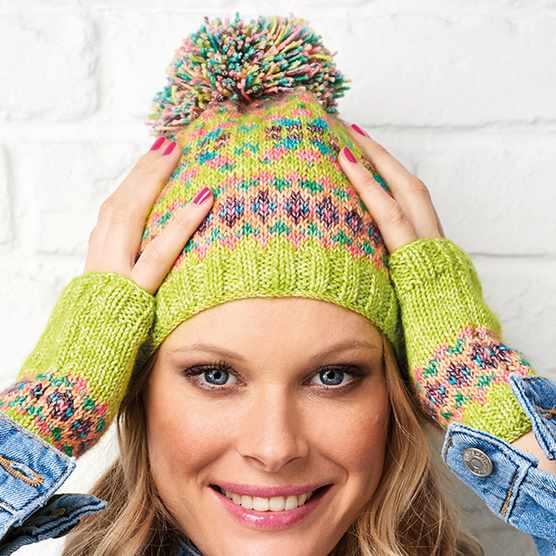 Fair Isle knitting pattern hat