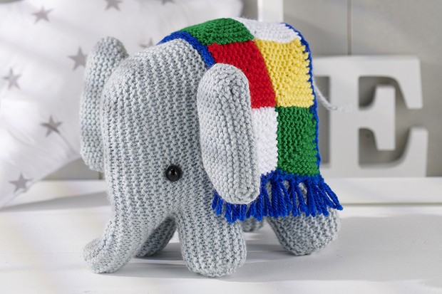 Crochet Elephant Edging | Crochet elephant, Crochet stitches ... | 413x620