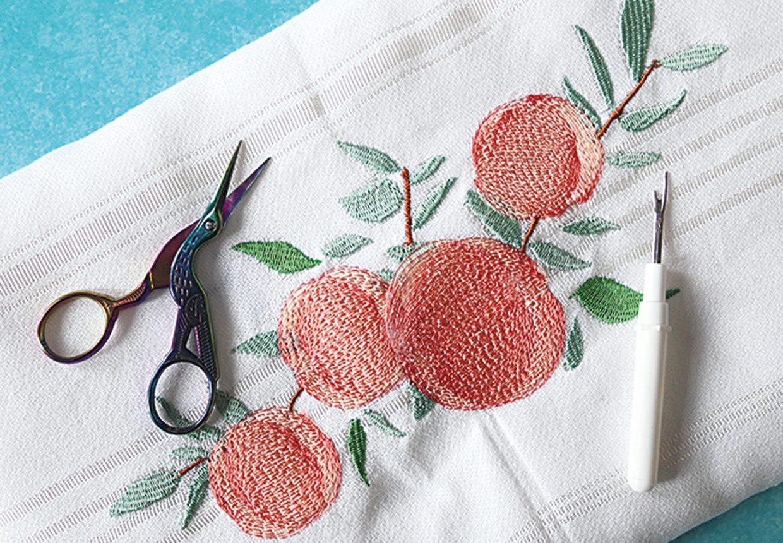 Free peach machine embroidery design