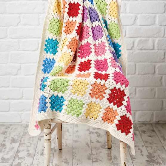 Free Crochet Granny Square Baby Blanket main