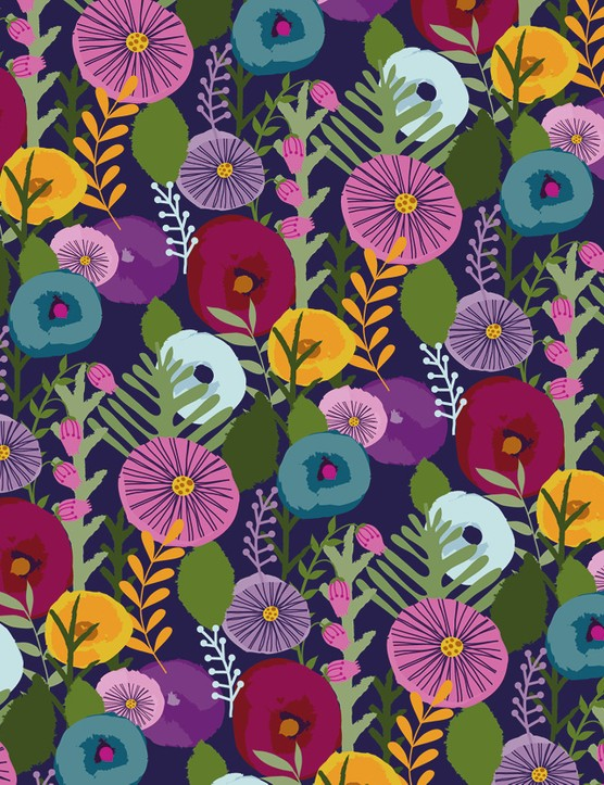 Abstract Florals patterned papers 02