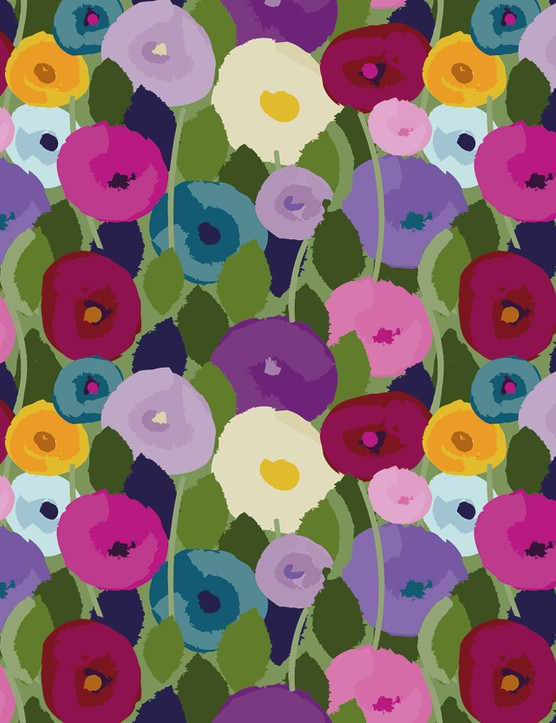 Abstract Florals patterned papers 04