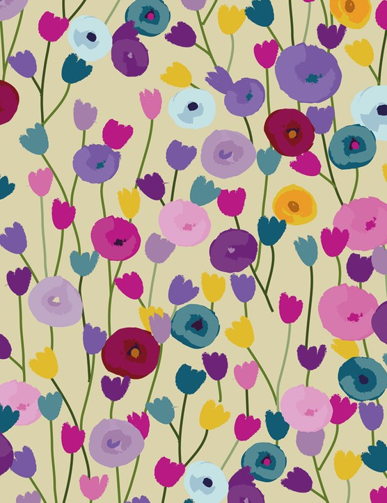 Abstract Florals patterned papers 05