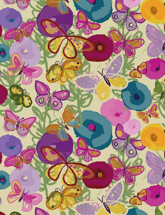 Abstract Florals patterned papers 07