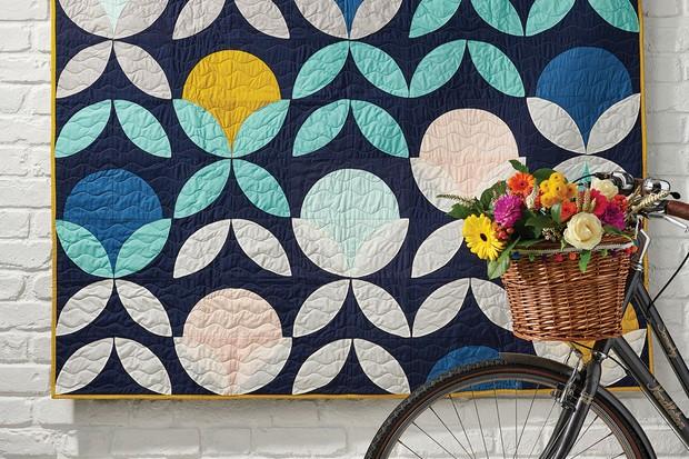 Modern orange peel quilt pattern