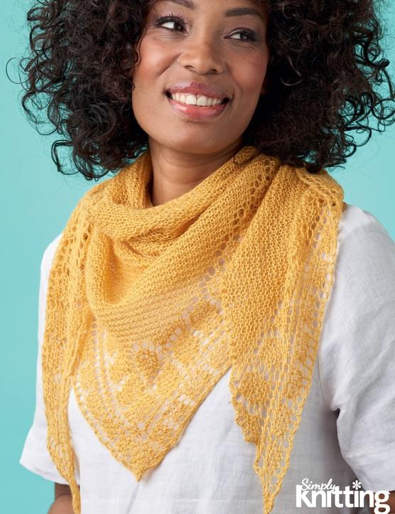Simply Knitting 200 Lace Shawl
