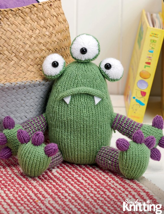 Simply Knitting 203 Halloween monster toy