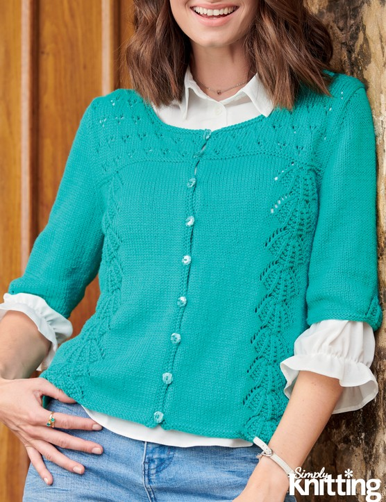 Simply Knitting 203 lace cardigan