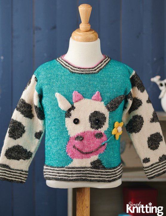 Simply Knitting 210 cow jumper