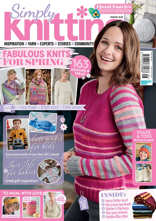 Simply Knitting issue 196 cover