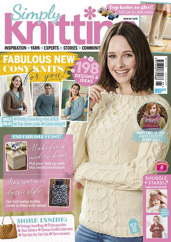 Simply Knitting issue 195 cover