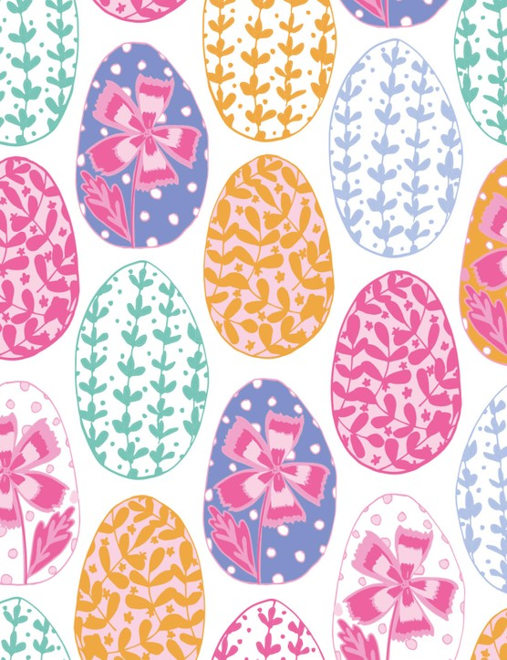 Free sketchy Happy Easter patterned papers_01