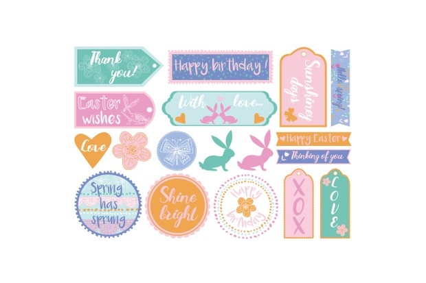 Free sketchy Happy Easter patterned papers_08