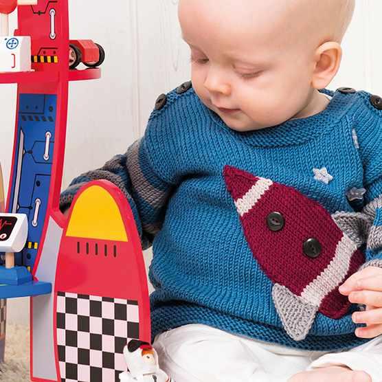 Baby jumper knitting pattern space rocket