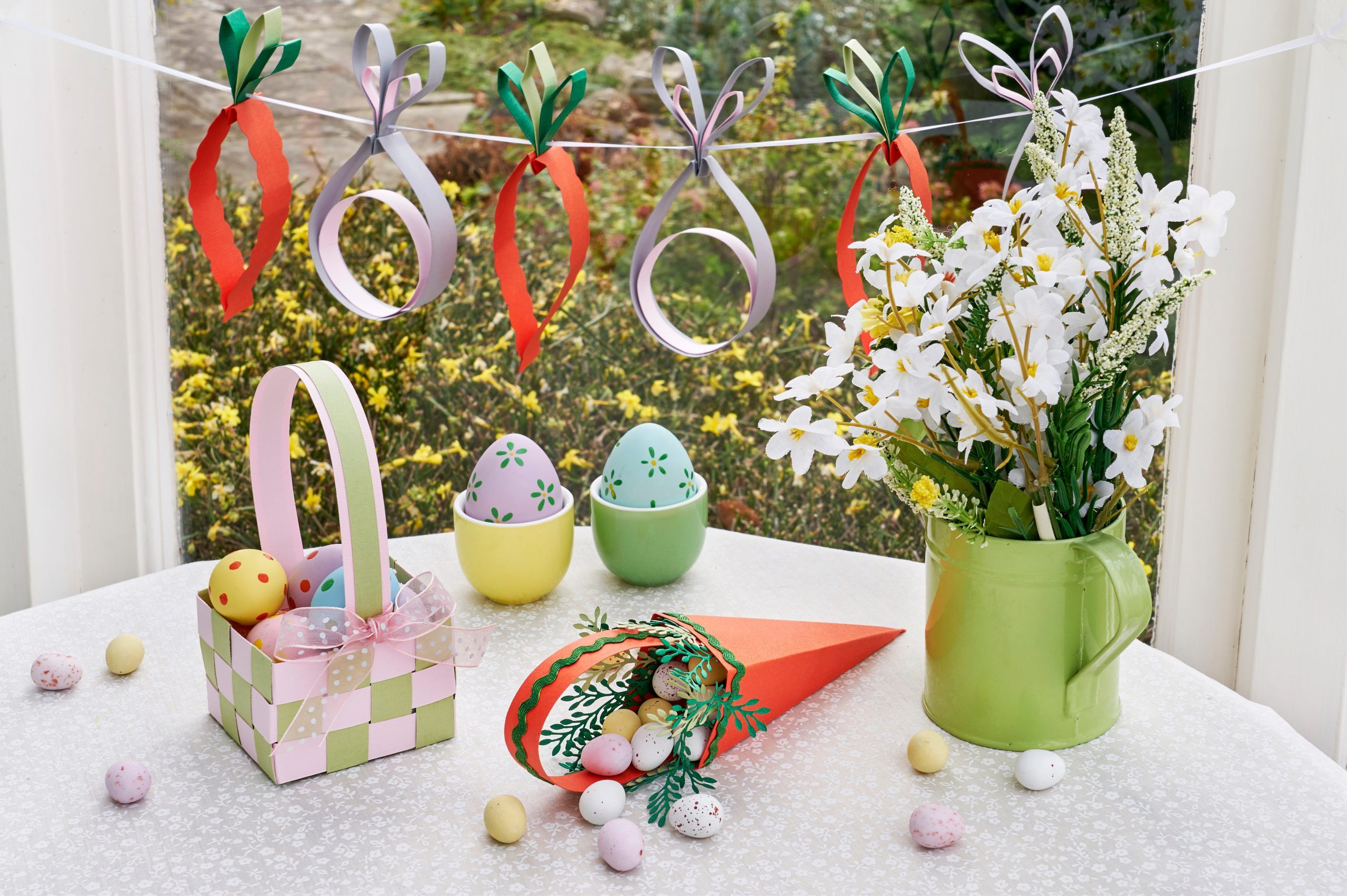 How to do an Easter Egg Hunt with paper decorations