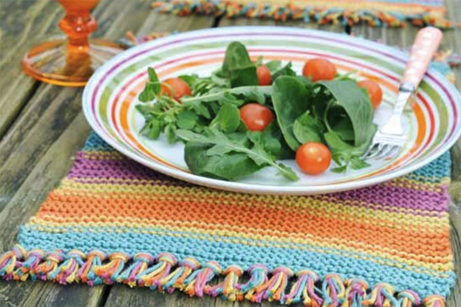 Free knitted placemat pattern