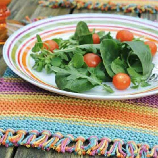 Free knitted placemats pattern