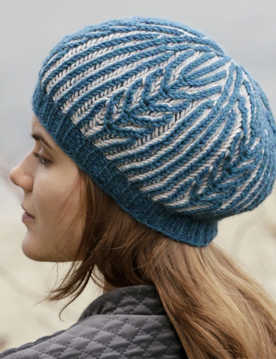 The Knitter 149 brioche hat Drops Design