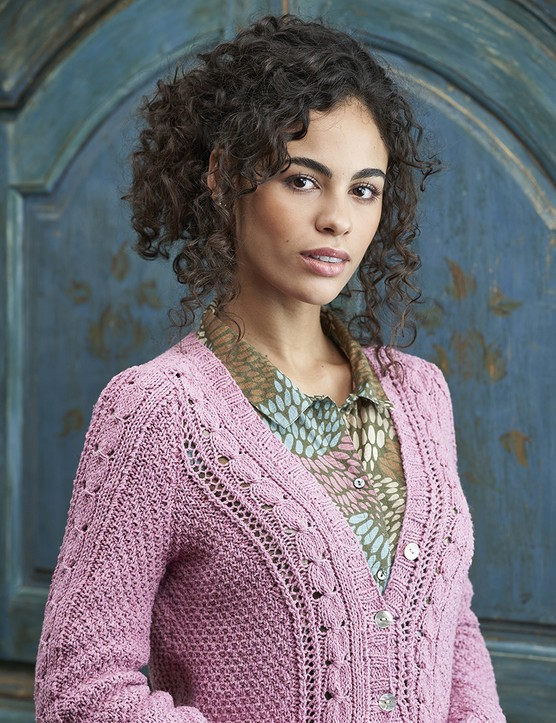 The Knitter 149 cardigan Sian Brown