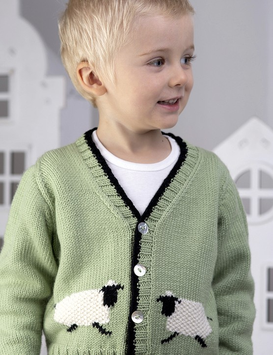 The Knitter 149 child's cardigan Jody Long